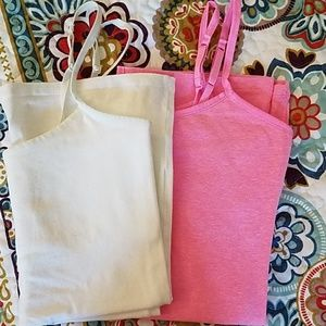 Pink & White Camis